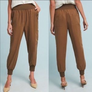 ANTHROPOLOGIE MAEVE CICERONE BROWN JOGGERS PANTS